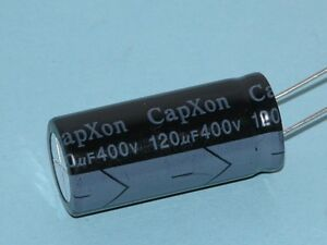 120uf/400V Radial Lead Electrolytics - 105 Degrees C