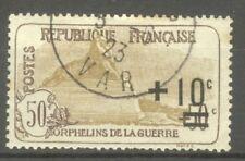"""FRANCE STAMP TIMBRE N° 167 """" ORPHELINS, LION DE BELFORT 1er TIRAGE """" OBLITERE TB"""