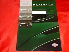 NISSAN Maxima QX Basis Competence Ambiente Prospekt von 1998