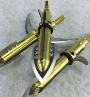 3pcs 100grain Point Yaksha Arrowhead Broadhead Arrow Bow Fishing Hunting Archery