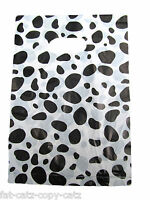 DALMATIAN ANIMAL DOG PRINT SPOTTED FASHION CARRIER GIFT BAGS 45+PER PACK 2 SIZES