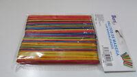 36 Palos de madera  de helados de colores para manualidades 10x114 mm