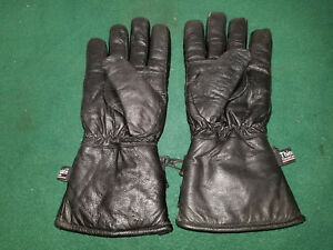 Thinsulate Mens size XS All Season Black Leather Motorcycle Gloves