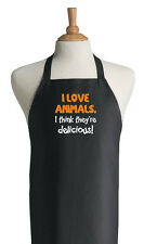 Funny Grill Apron I Love Animals Novelty Barbecue Aprons by CoolAprons