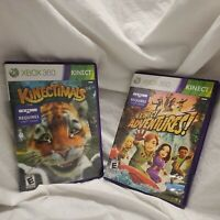 2 Game Lot Kinectimals & Kinect Adventures Xbox 360 Tested