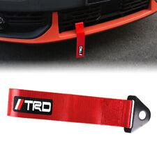 Car Tow Towing Red Strap Belt Jdm Trd Racing Drift Rally Hook Universal X1