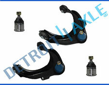 New 4pc Front Upper Control Arms w/Ball Joints + Lower Ball Joints for Acura TL