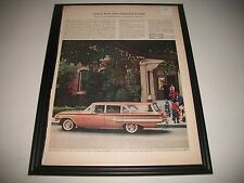 1960 CHEVROLET NOMAD STATION WAGON ORIGINAL PRINT AD COLLECTIBLE GARAGE ART