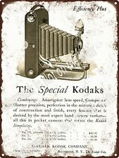 "1910s Special Kodak Eastman Efficiently Plus Camera Metal Sign 9x12"" A545"