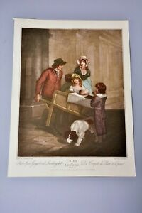 Antique Clipping/Print: Cries of London Plate 12, Gingerbread Seller