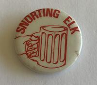 Vintage Snorting Elk Pinback Buttons