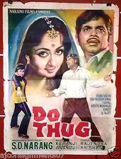 Do Thug (Hema Malini) Bollywood Hindi Original Movie Poster 70s