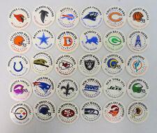 NFL LASER CAPS SERIES 1 FULL SET VINTAGE RETRO FOIL STAMPED MILK CAPS SLAMMER