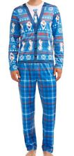 Frozen DISNEY Men's Licensed  Cardigan Pajama 2 Piece Set (Sleepwear)Size Large