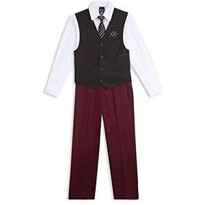 MSRP $65 Nautica Boys 4-Piece Set w/ Dress Shirt, Tie, Vest, and Pants Size 5
