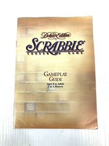 Scrabble Deluxe Edition Game Play Guide Rule Booklet Playing Instructions