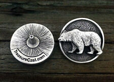 Grizzly Bear Concho Rivet | Wildlife Conchos in Fine Pewter | Made in USA
