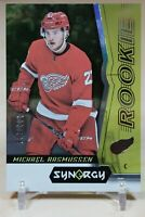 Michael Rasmussen Rookie 2018-19 Upper Deck Synergy Green /199 Detroit Red Wings