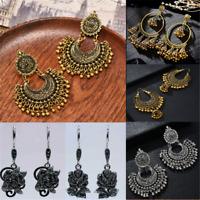 Women's Elegant Retro Bronze Silver Long Earrings Drop Dangle Jewellery 1 Pair
