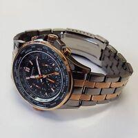 Sekonda Mens Quartz Watch Black Dial Chronograph Display Stainless Steel 1025