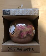New Primark Disney Beauty and The Beast Mrs Potts Chip Christmas Bauble Pink