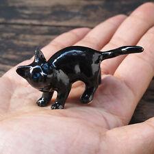 Ceramic Black Cat Figurine Collection Black Cats  Pottery Animals