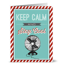 24 Note Cards - Keep Calm and Stay Cool - Kraft Envs