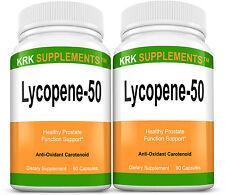 2 Bottles Lycopene 50mg 180 total capsules Prostate Support KRK SUPPLEMENTS