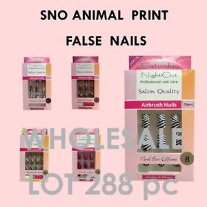 < half price bulk lot false nails glue on airbrush nail tips w/ nail glue 288pcs