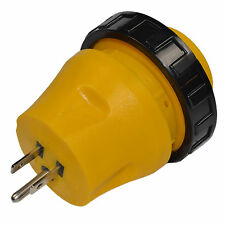 RV Electrical Locking Adapter 15A Male to 30A Female Power Cord Plug Connector