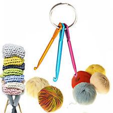 3Pcs Mixed Aluminum Crochet Hook Knit Knitting Needle Yarn Weave DIY Tool Set