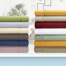 1200 TC PREMIUM 100% COTTON CALIFORNIA KING 4 - PC SHEET SET ALL SOLID COLORS