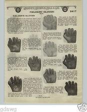 "1924 PAPER AD Reach Baseball Glove RARE Reinforced Palm Thumb Horse Hide 1"" Webb"