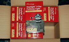Wholesale Case of 6 Malibu 8301-9202-01 Metal Tier Lights, Black NEW!