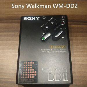 Sony Walkman WM-DD2 Player Cassette Player EXELLENT WORK Black