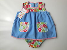NEW Oobi baby girl blue corduroy dress + nappy cover size 1 RRP $54.95 *Gift