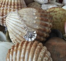 Oyster Shell And Gray 'pearl' Pendant Necklace