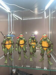 NECA TEENAGE MUTANT NINJA TURTLES 7 INCH 1990 MOVIE FIGURES HOT TOYS