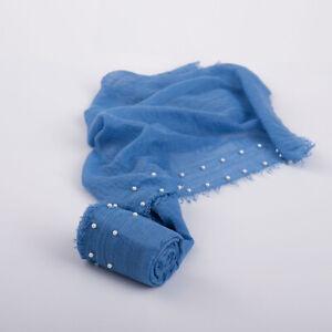 Photography Props Newborn Photography Blanket Photo Wrap Beaded Muslim Headscarf