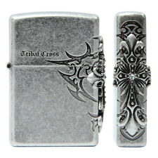 Zippo Tribal Cross Side Nickel Lighter Made in USA /GENUINE and ORIGINAL Packing