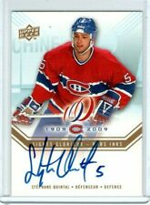 STEPHANE QUINTAL 2008-09 Montreal Canadiens Centennial AUTO UD HABS INKS