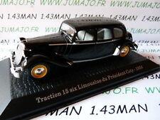 voiture1/43 norev présidentielle : CITROËN TRACTION 15 six Limousine COTY 1956