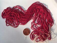 Antique Micro Seed Beads-14/0-16/0 Rich Deep Velvet Red Opaque-3g hanks-30 bpi