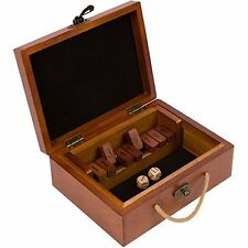 Shut the Box Board Game by Best Chess Set - Eco Friendly Wood Case Design w Dice