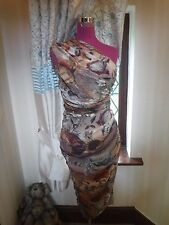 Amazing All Saints Darwin One Shoulder Dress Size 10 Excellent Condition