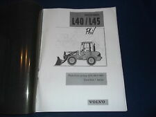 VOLVO L40 L45 WHEEL LOADER GEARBOX & AXLES SERVICE SHOP REPAIR MANUAL BOOK