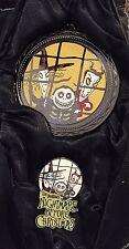Disney Haunted Mansion Holiday Nightmare Lock Shock & Barrel Ornament & Pin Set