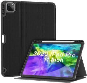Case for iPad Pro 11 2020 & 2018, Folio Magnetic Protective Case Pen Holder