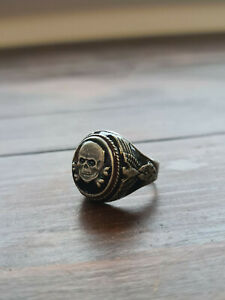 Vintage Collectable Enamel and Silver 800 German Ring
