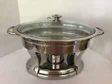 Costco 4.2 Qt Chafing Dish Oval Stainless Steel